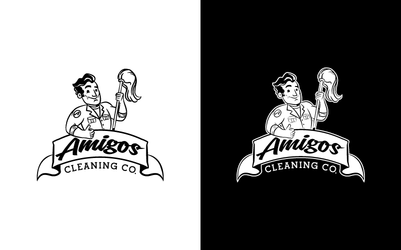 Amigos Cleaning Co. logo