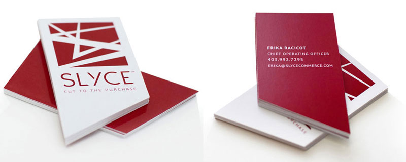 Slyce business cards