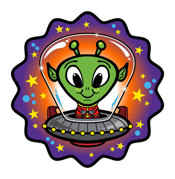 Alien cartoon illustration