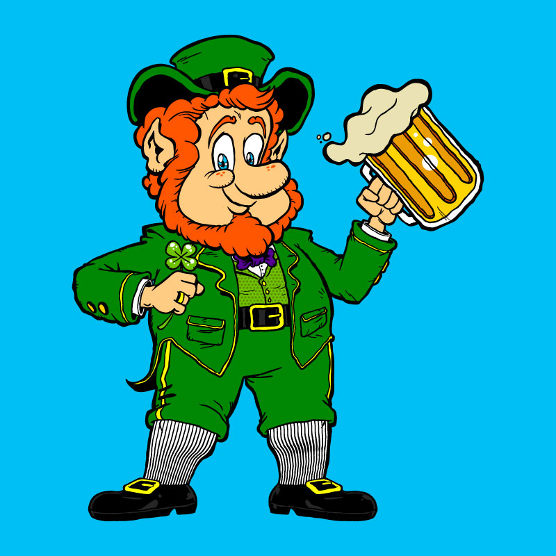 Leprechaun cartoon illustration